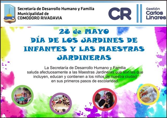 D a de los jardines de infantes secretar a de desarrollo for Asistenciero para jardin de infantes