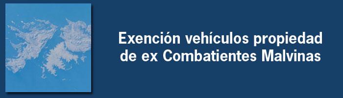 Exención vehículos propiedad de ex Combatientes Malvinas