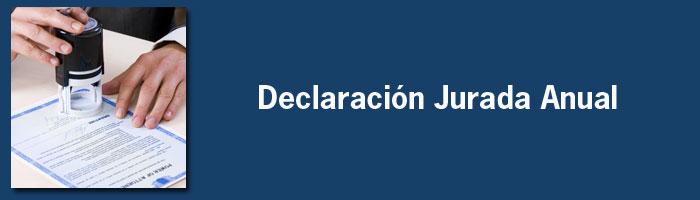 Declaración Jurada Anual IB 2015