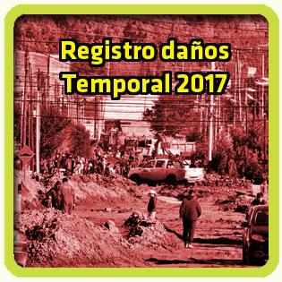 Registro de daños domiciliarios. Temporal / Comodoro 2017.