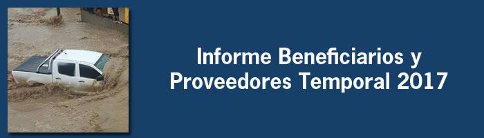 Informe Beneficiarios y Proveedores / Temporal 2017