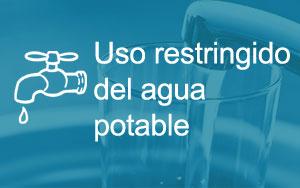 Uso restringido del agua potable