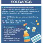 Municipio realizará una nueva entrega de Medicamentos Solidarios
