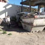 Municipio multó a una empresa transportista por acumular residuos en la vía pública