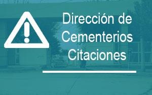 Cementerio – Citación por deudas