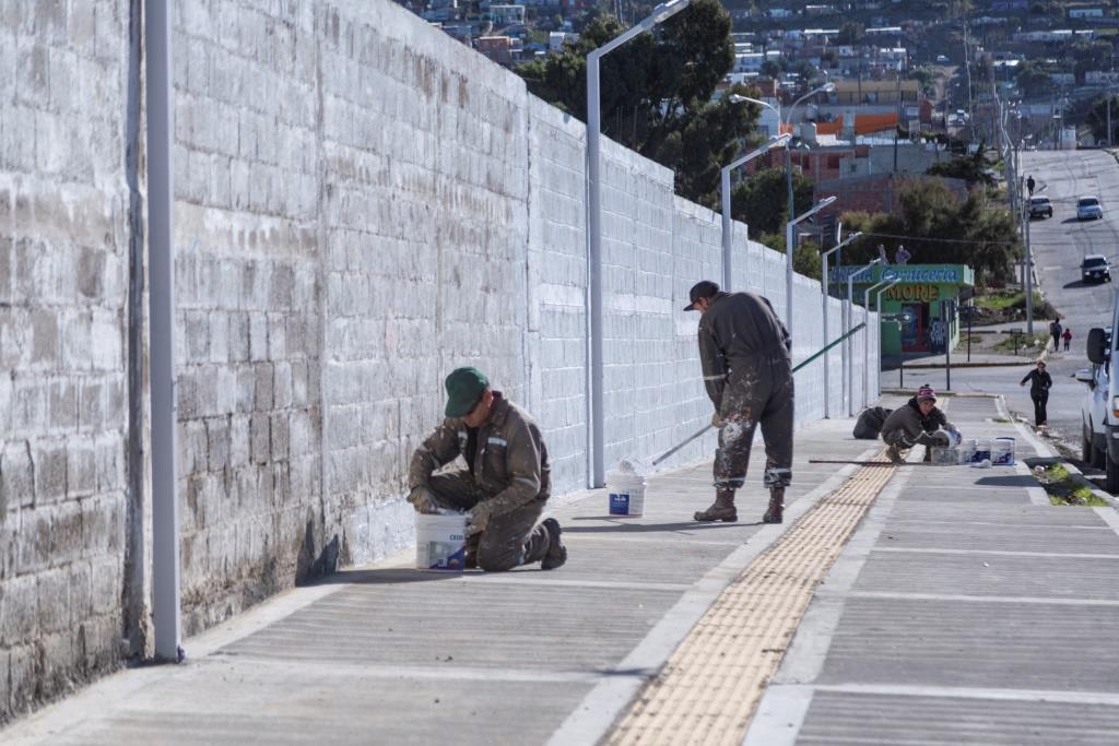 Fuerte avance en la obra del Circuito Aeróbico de barrio José Fuchs
