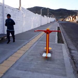 La obra del paseo aeróbico de barrio José Fuchs está próxima a su finalización