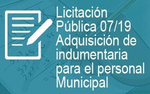 Licitación Pública: Nº 07/2019-S.E.F.y C. de G.