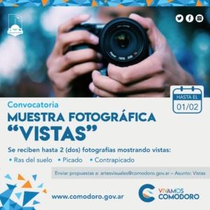 """Bases y condiciones para participar de la muestra Fotográfica """"Vistas"""""""