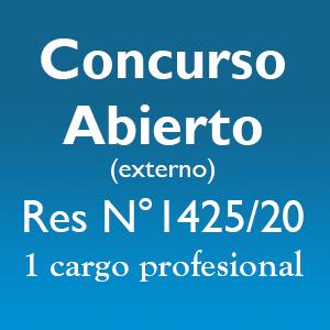 Concurso Abierto (externo) 1 cargo profesional