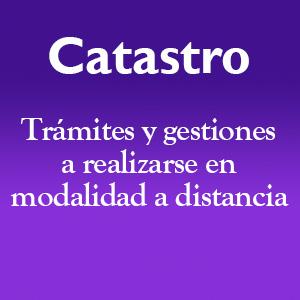 Catastro – Trámites