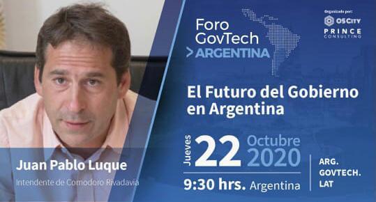Luque disertará en importante foro sobre gobierno digital y modernización