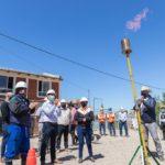 Luque inauguró una nueva red de gas en barrio San Cayetano