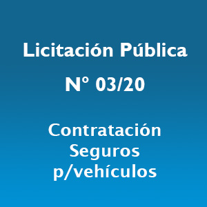 Licitación Pública: N.º 03/2020-S.E.F. y C. de G.