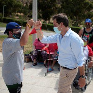 El intendente participó de la propuesta recreativa de verano para personas con discapacidad
