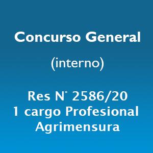 Concurso General para cubrir 1 cargo profesional para la Dirección General de Agrimensura