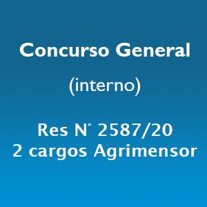 Concurso General para cubrir 2 cargos profesionales de Agrimensor
