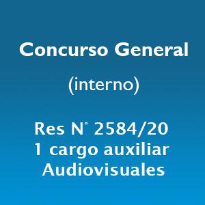 Concurso General 1 cargo Auxiliar audiovisuales