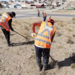 Municipalidad trabaja junto a organizaciones sociales en limpieza de espacios públicos