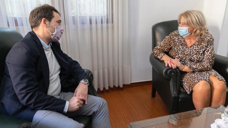 Luque se reunió con la jueza federal Eva Parcio
