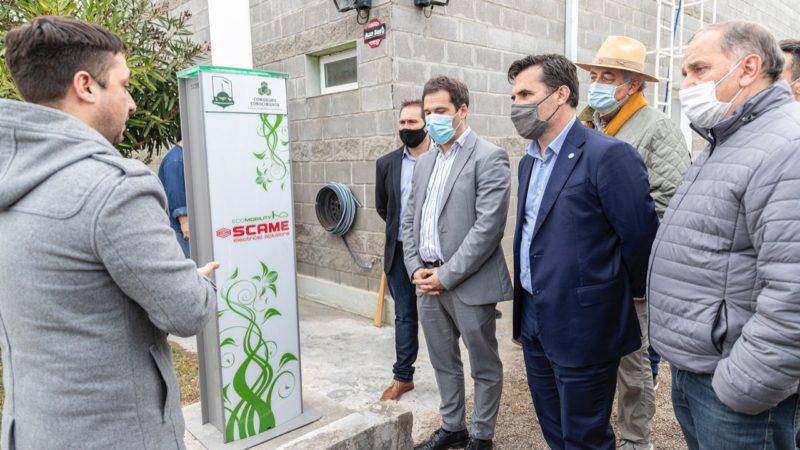 El Municipio presentó la primera estación de carga para autos eléctricos de Chubut